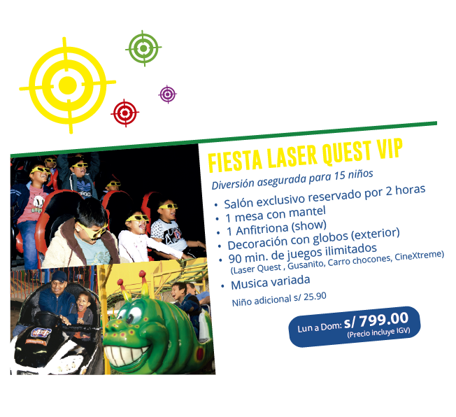 Paquetes de fiesta laser quest en San Juan de Lurigancho